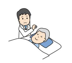 かかりつけ医の診察の様子
